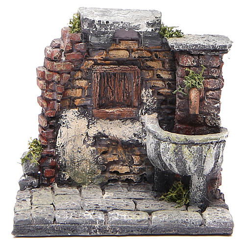 Electric fountain for nativities in resin 13x13x12cm 1