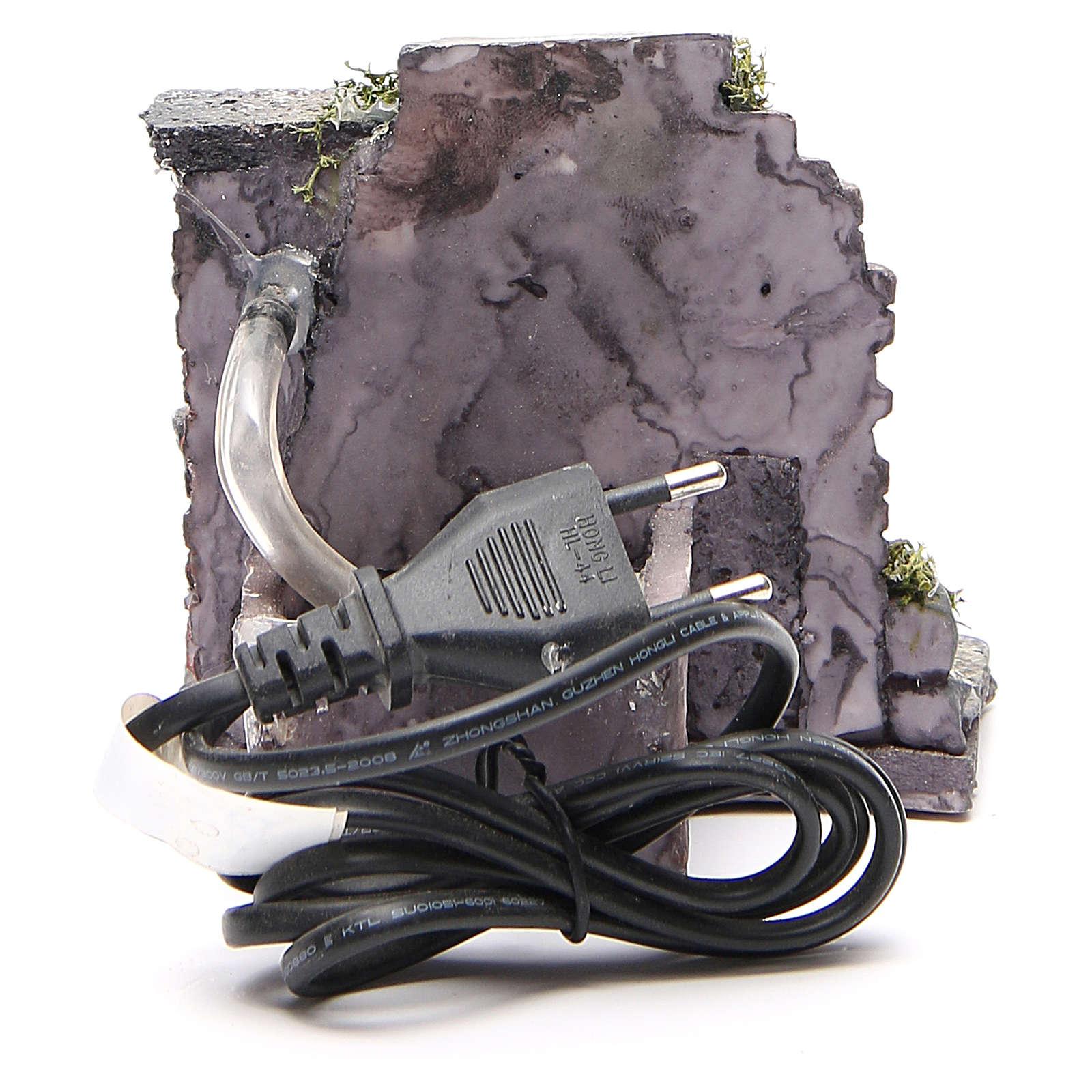 Fontaine électrique en résine crèche 13x13x12 cm 4