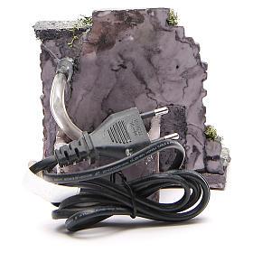 Fontaine électrique en résine crèche 13x13x12 cm s4