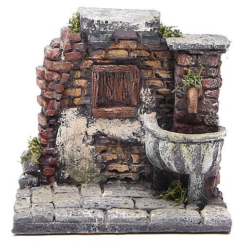 Fontaine électrique en résine crèche 13x13x12 cm 1