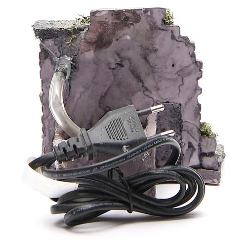 Fontana elettrica in resina presepe 13x13x12 cm 4