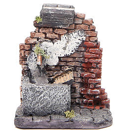 Electric fountain for nativities in resin 12x10x11cm s1
