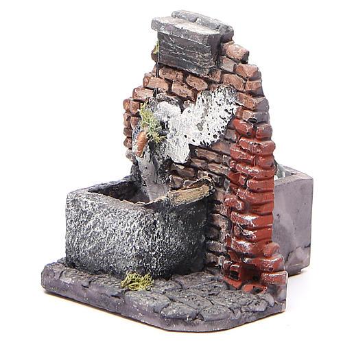 Fontaine électrique crèche en résine 12x10x11 cm 2