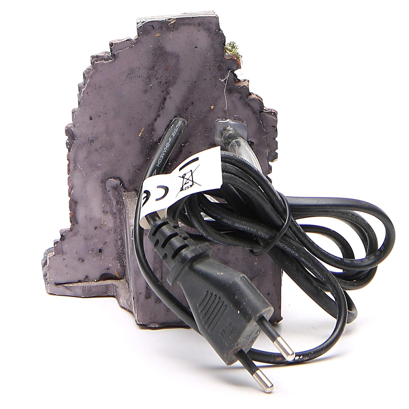 Fontanna elektryczna do szopki żywica 12x10x11 cm 4