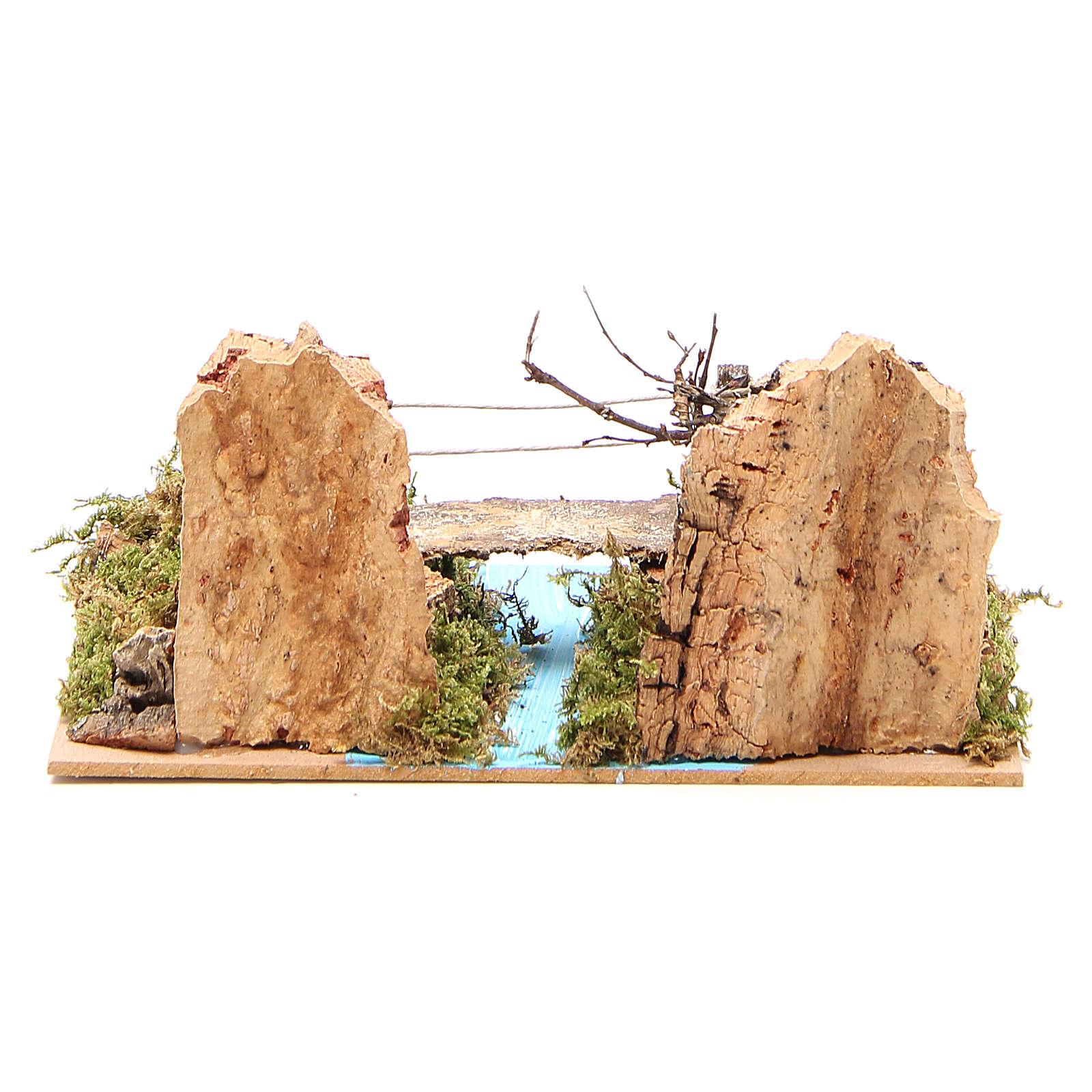 Ponte su fiume per presepe 14x20x12 cm 4