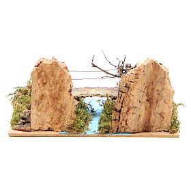 Ponte su fiume per presepe 14x20x12 cm s4