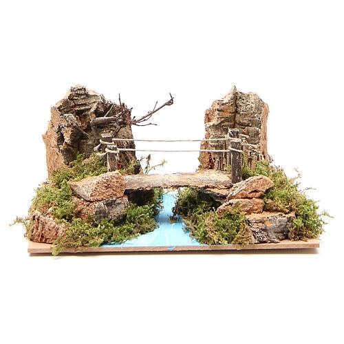 Ponte su fiume per presepe 14x20x12 cm 1