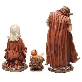 Capanna presepe illuminata con statue 32 cm e eff fuoco 55x76x40 s7