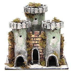 Castello presepe 3 torri 18x20x14 cm s1