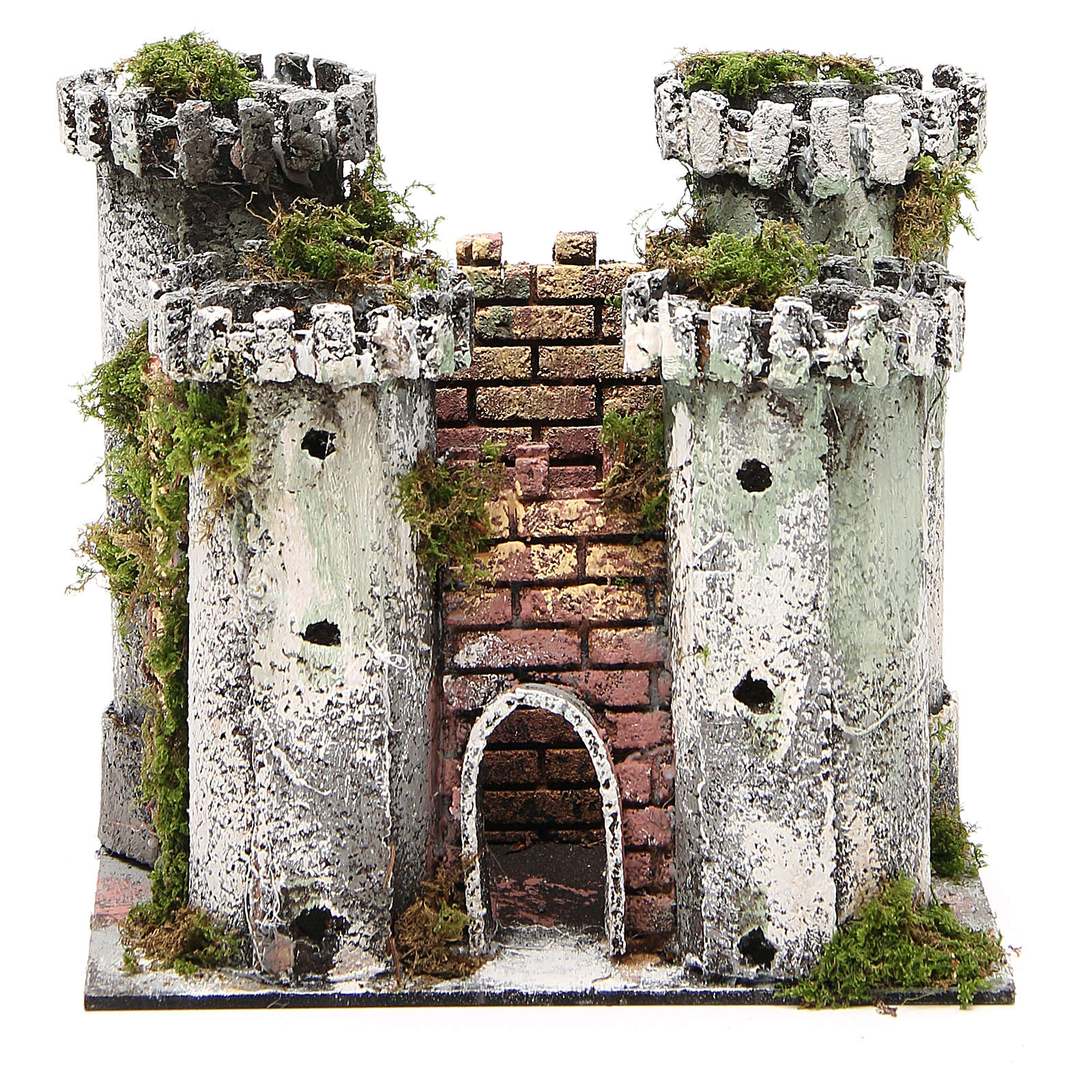 Castle with 4 towers for nativities measuring 18x20x14cm 4