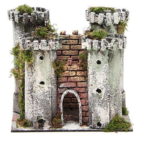 Château pour crèche 4 tours 18x20x14 cm 1