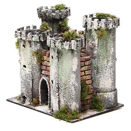 Château pour crèche 4 tours 18x20x14 cm 2