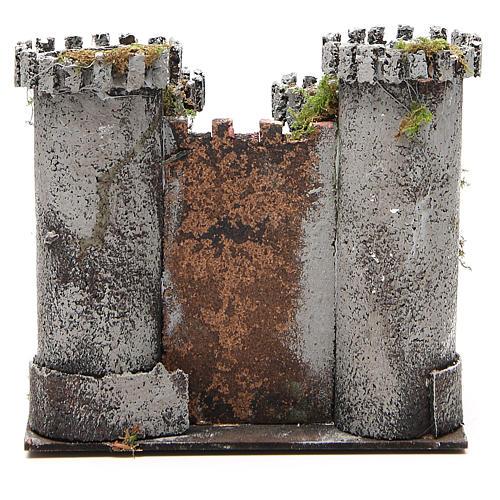 Castello per presepe 4 torri 18x20x14 cm 4