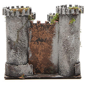 Castle with 4 towers for nativities measuring 18x20x14cm s4