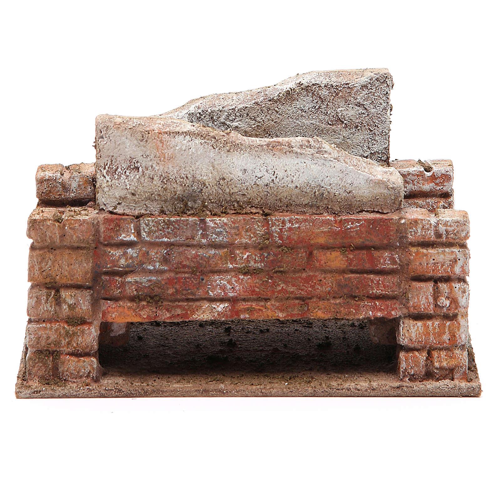 Pont crèche rustique 10x18x11 cm 4