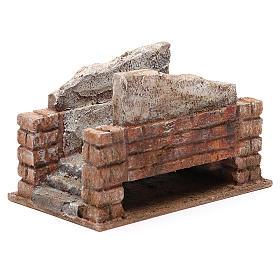 Pont crèche rustique 10x18x11 cm s3