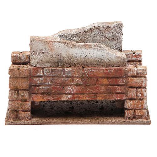 Pont crèche rustique 10x18x11 cm 1