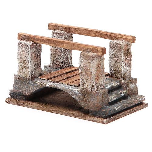 Bridge for nativity with railing 8x15x9cm 2