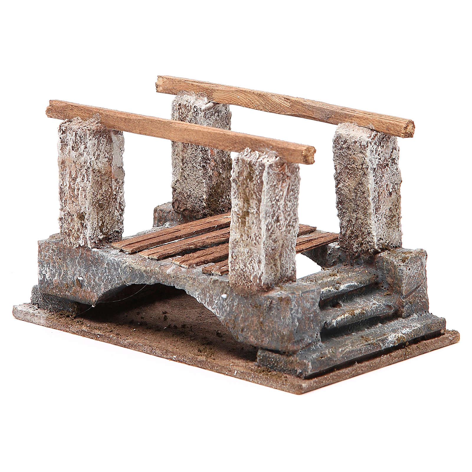 Puente belén con parapeto madera 10x18x11 cm 4