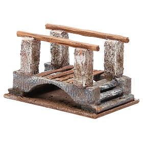 Ponte presepe con parapetto legno 10x18x11 presepe 12 cm s2