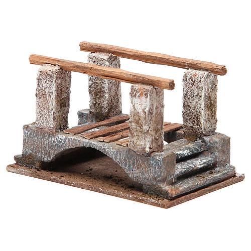 Ponte presepe con parapetto legno 10x18x11 presepe 12 cm 2