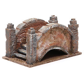 Arched Bridge for nativity with staircase 10x18x11cm s3