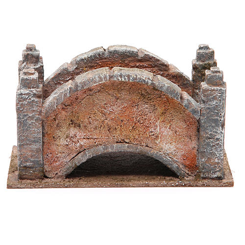 Arched Bridge for nativity with staircase 10x18x11cm 1