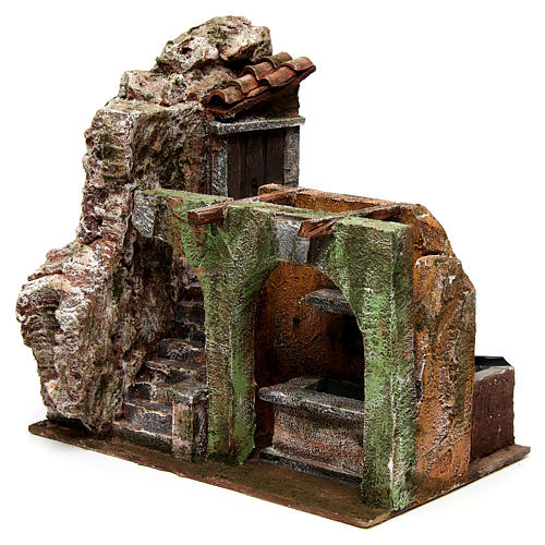 Electric fountain for nativity, double arch 23x25x15cm 2