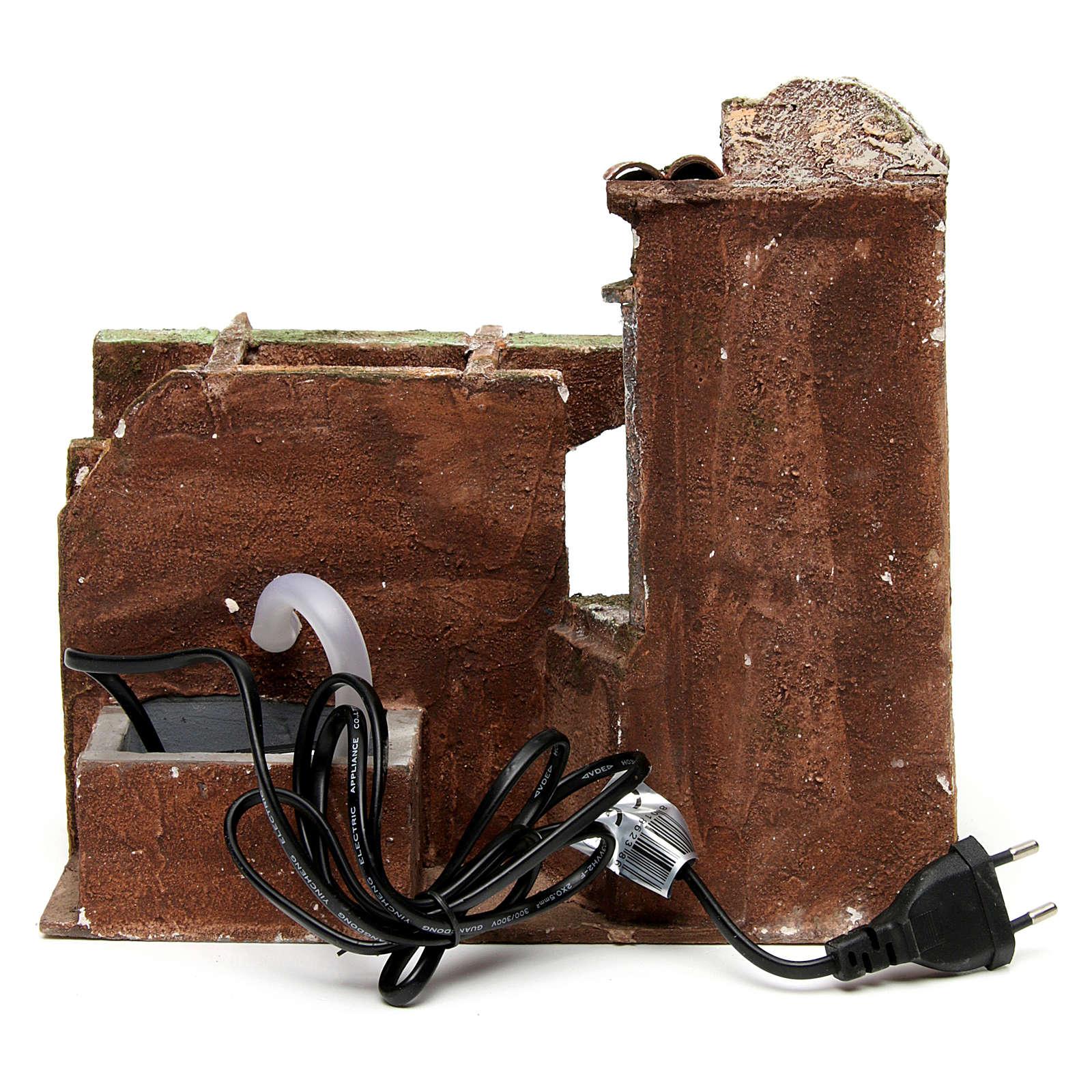 Chafariz eléctrico presépio arco duplo 23x25x15 cm 4