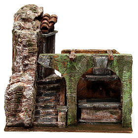 Electric fountain for nativity, double arch 23x25x15cm s1