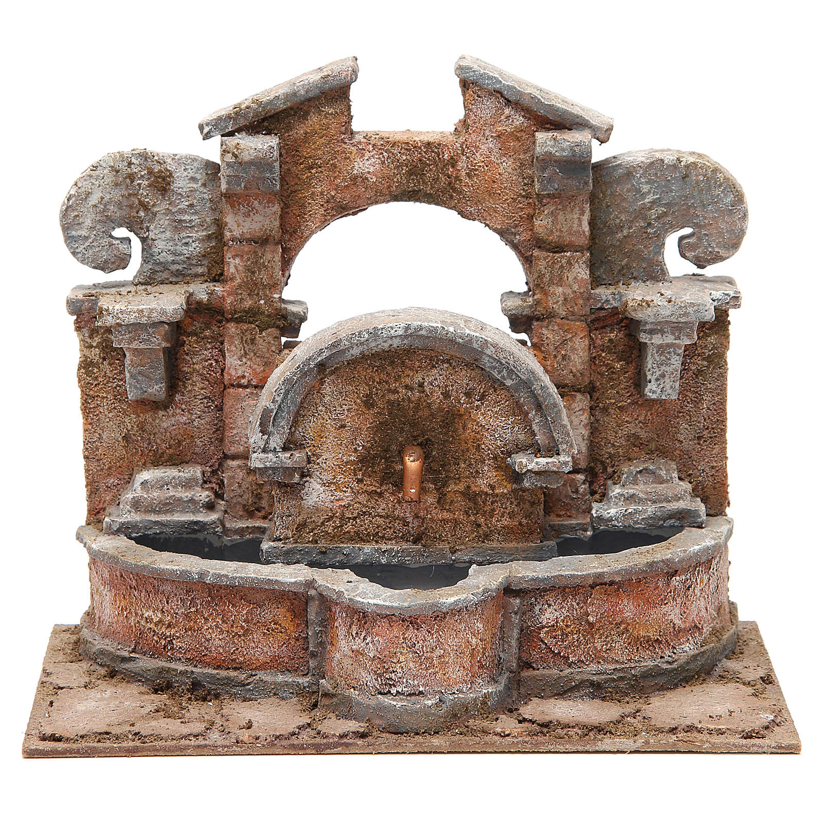 Electric fountain for nativity, large basin 20x25x15cm 4