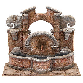 Electric fountain for nativity, large basin 20x25x15cm s1