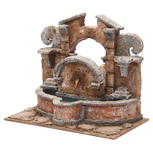 Electric fountain for nativity, large basin 20x25x15cm 2