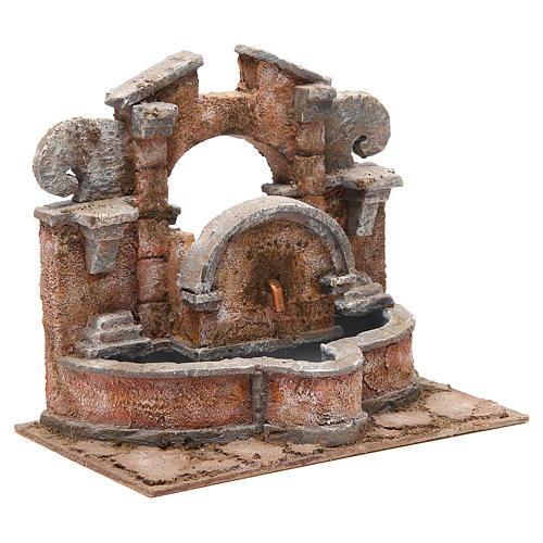 Electric fountain for nativity, large basin 20x25x15cm 3