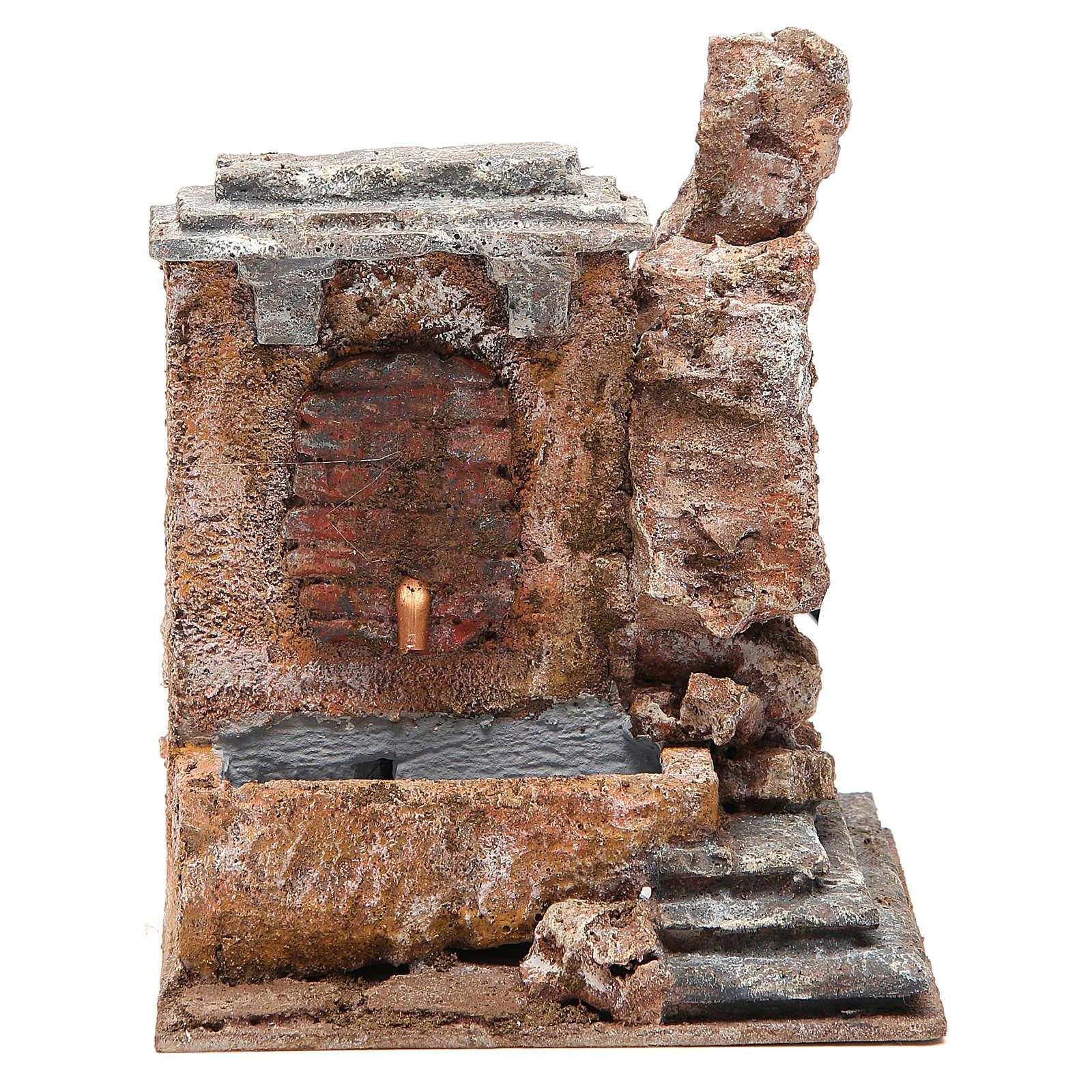 Fontaine électrique crèche rocher 18x16x16 cm 4