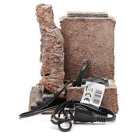 Fontaine électrique crèche rocher 18x16x16 cm s4