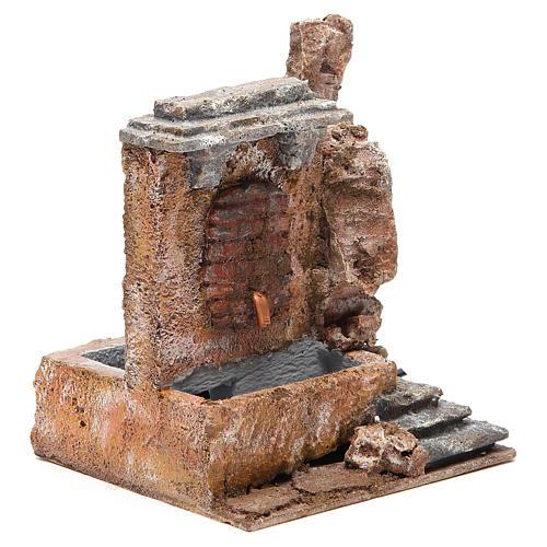Fontaine électrique crèche rocher 18x16x16 cm 3