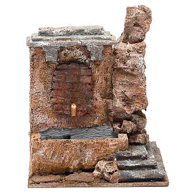 Electric fountain in rock for nativity 18x16x16cm s1