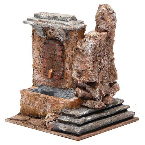 Electric fountain in rock for nativity 18x16x16cm 2