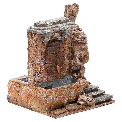 Electric fountain in rock for nativity 18x16x16cm 3