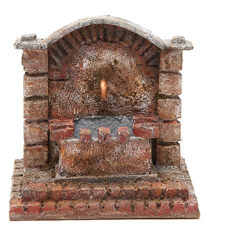Antique electric Fountain for nativity 18x16x16cm 1