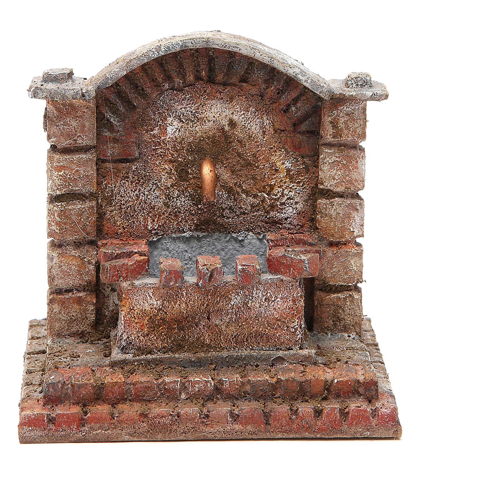 Fontana elettrica presepe antica 18x16x16 cm 4