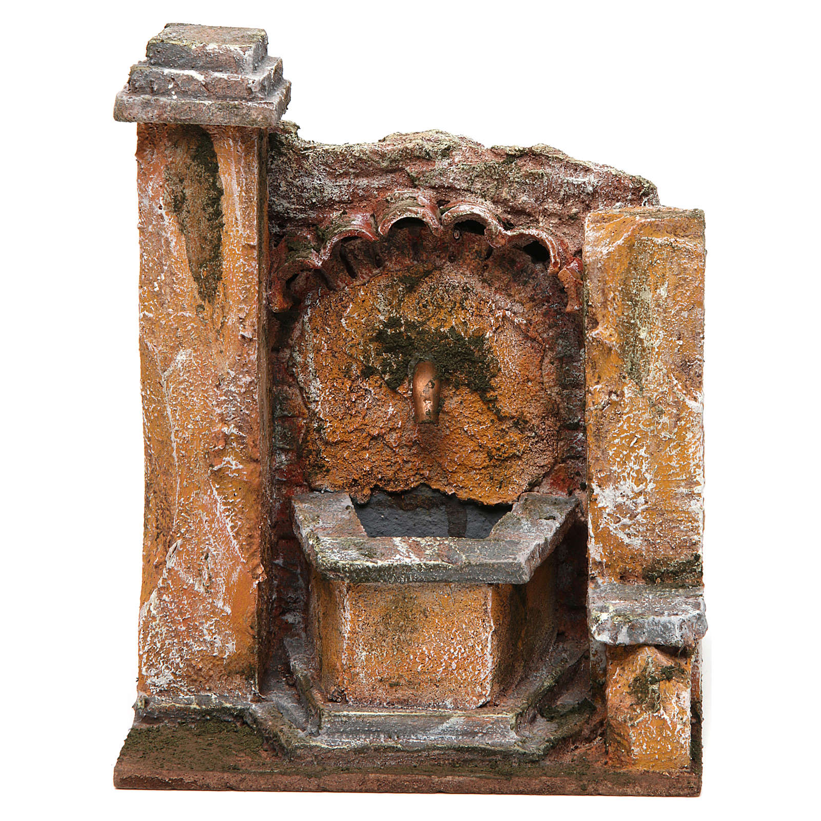 Antique Fountain for nativity 18x16x16cm 4
