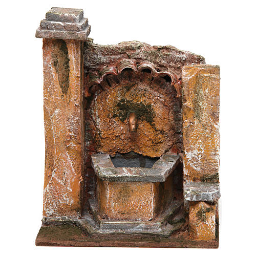 Antique Fountain for nativity 18x16x16cm 1