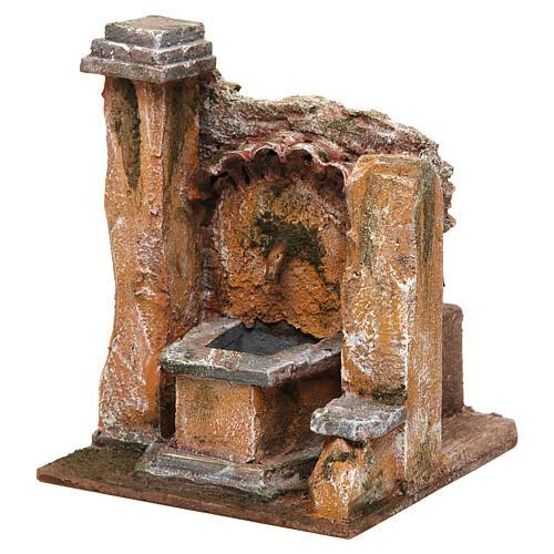 Antique Fountain for nativity 18x16x16cm 2