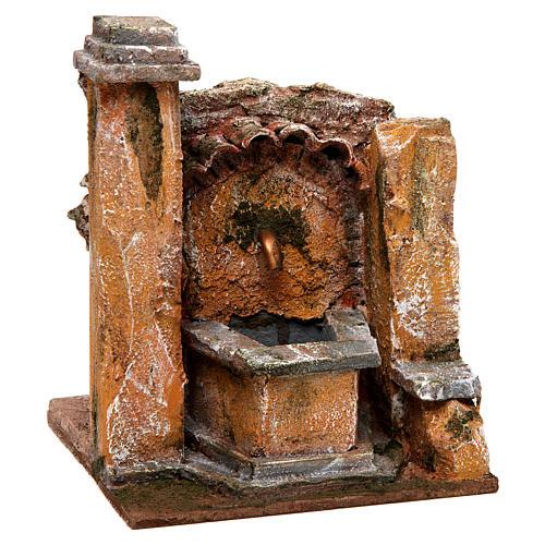 Antique Fountain for nativity 18x16x16cm 3