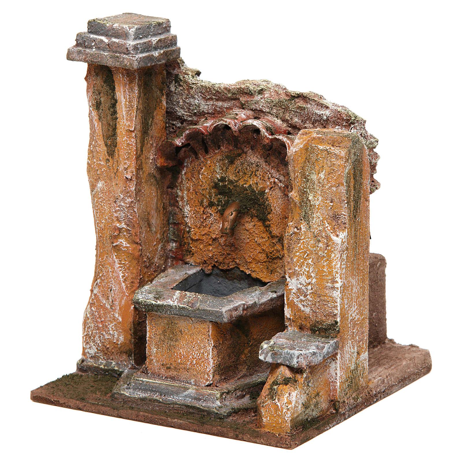 Fontana presepe antica presepe 10 12 cm 18x16x16 4