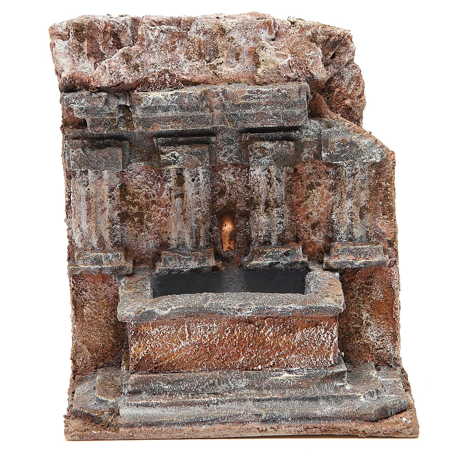 Fuente en la roca 18x16x16cm para belén 4
