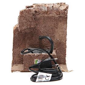 Fuente en la roca 18x16x16cm para belén s4