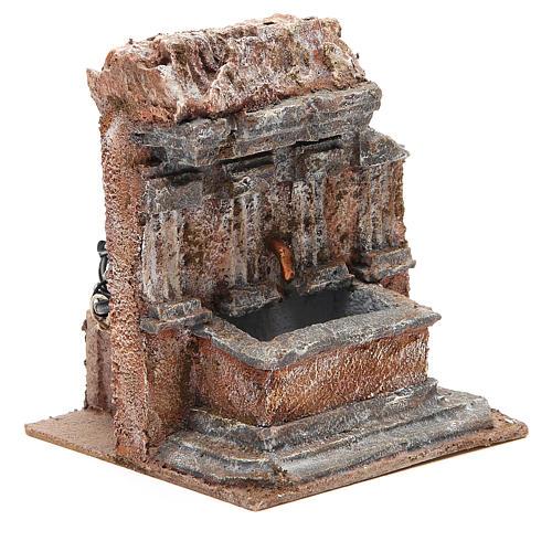 Fuente en la roca 18x16x16cm para belén 3